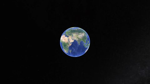 Grenada with flag. 3d earth in space - zoom in Grenada outer, created using ultra high res NASA