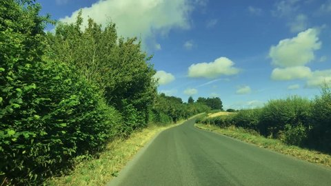 Road trip in a country side of Wiltshire