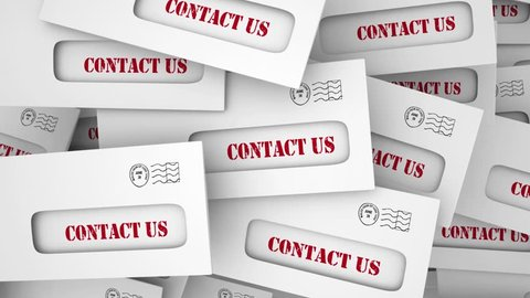 Contact Us Customer Support Envelopes Communication 3d Animation