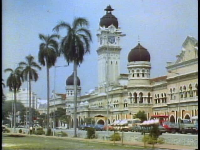 KUALA LUMPUR, MALAYSIA, 1982, Victorian mosque like buildings