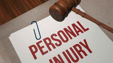 Personal injury legal concept
