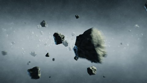 Asteroids Field in Space