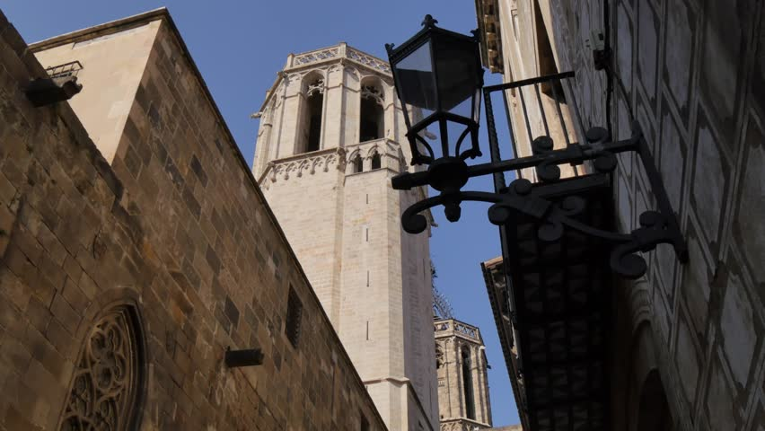 Basilica de Santa Maria del Pi, Placa del Pi, Gothic District, Barcelona, Catalonia, Spain, Europe