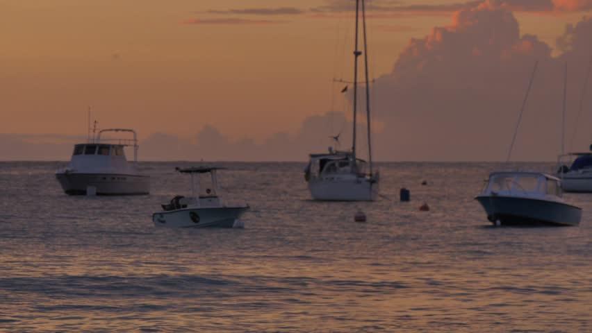 Brownes Beach sunset, Bridgetown, St Michael, Barbados, West Indies, Caribbean