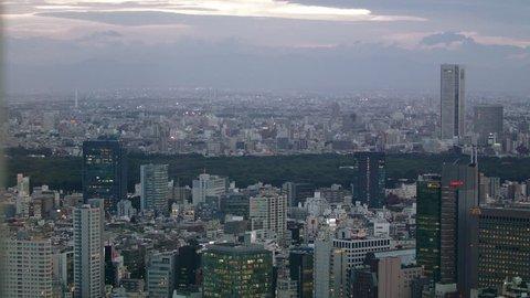 Night panorama of large modern metropolis