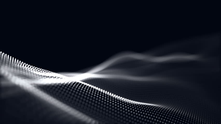 Digital wave background abstract title blurred animation of particle seamless. | Shutterstock HD Video #1014681557