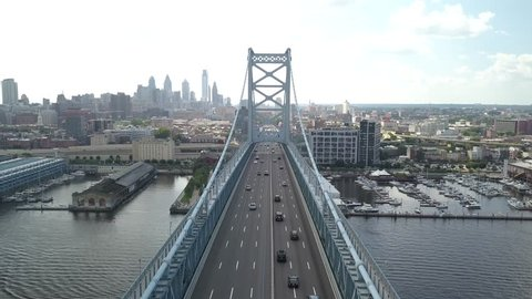 Benjamin Franklin Bridge Philadelphia Pennsylvania Camden New Jersey