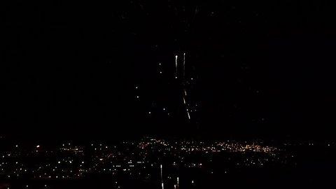 Fireworks display in Tulsa Oklahoma 7/4/18