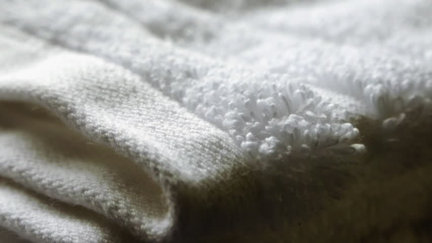 Clean white towels folded close up stock footage | Shutterstock HD Video #1014875707