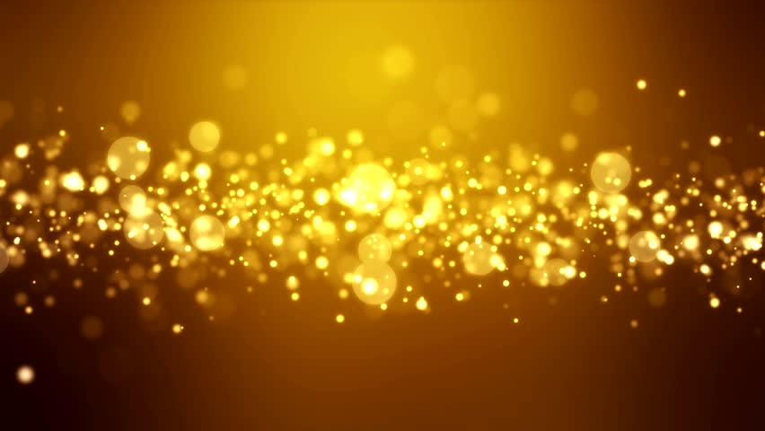 Video animation of christmas golden light shine particles bokeh over golden background and the numbers 2019 - represents the new year - holiday concept #1014934717