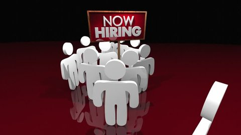 Now Hiring New Open Jobs Positions Attract Candidates Sign 3d Animation