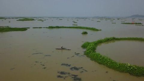 moirang, MANIPUR / India - 07 12 2018: Life at loktak lake
