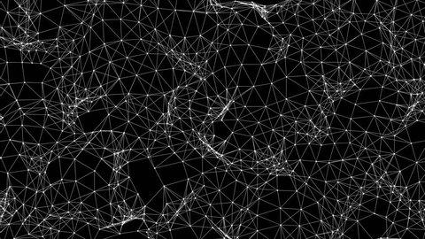 Futuristic wireframe mesh undulation (Loop).
