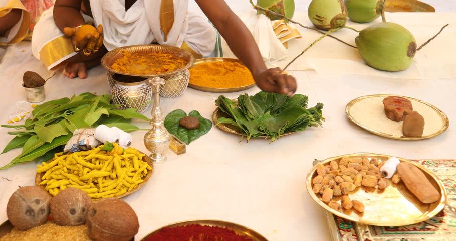 Hindu prayer at home #1015069147