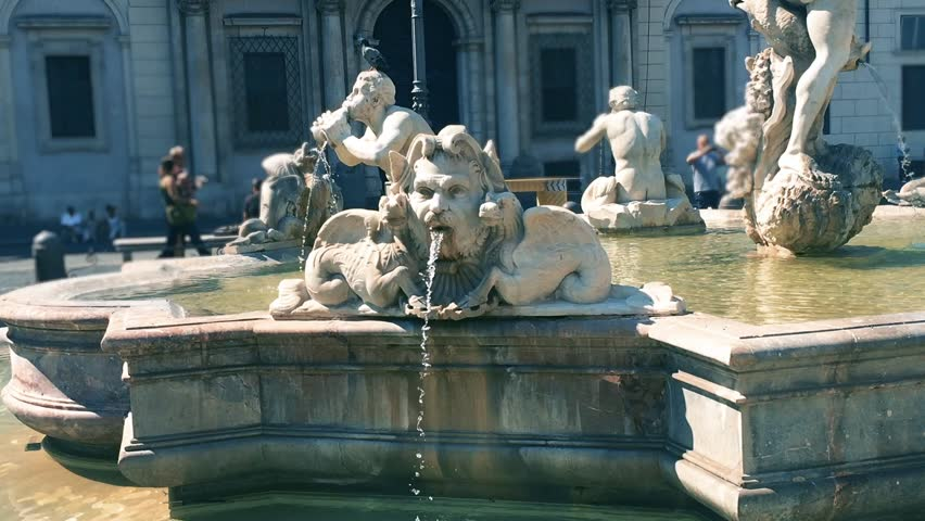 Piazza Navona Fountain in Rome, Italy.