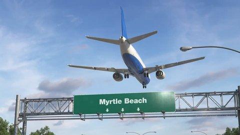 Airplane Landing Myrtle Beach