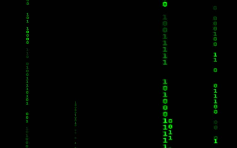 Digital binary data, streaming code background. Matrix background. Programming / Coding / Hacker concept. Cyberspace with green digital falling lines, abstract background, binary chain. Crypto space. | Shutterstock HD Video #1015388407