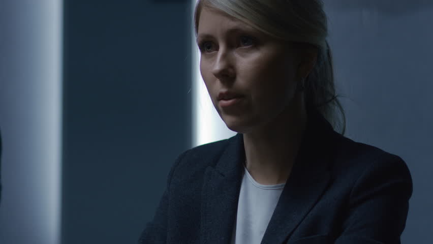 Strong Minded Businesswoman Talks with Senior Business Advisor and Corporate Executive on the Annual Board of Directors Meeting. Shot on RED EPIC-W 8K Helium Cinema Camera.