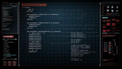 Programming hacking code, Digital interface display, Security artificial intelligence, 4K animation.