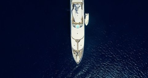 Yacht in the pacific ocean