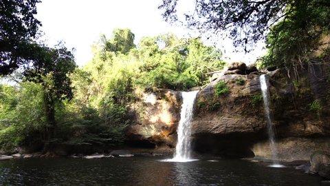 thailand waterfall  at Khao Yai National Park  Nakhon at Ratchasima povince , Landscape Thailand