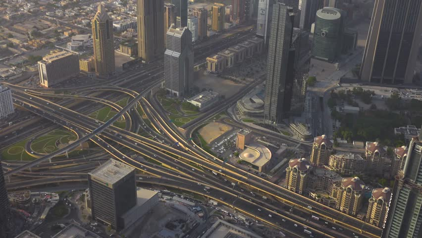 Sheikh Zayed Road Highway in Dubai | Shutterstock HD Video #1015604977
