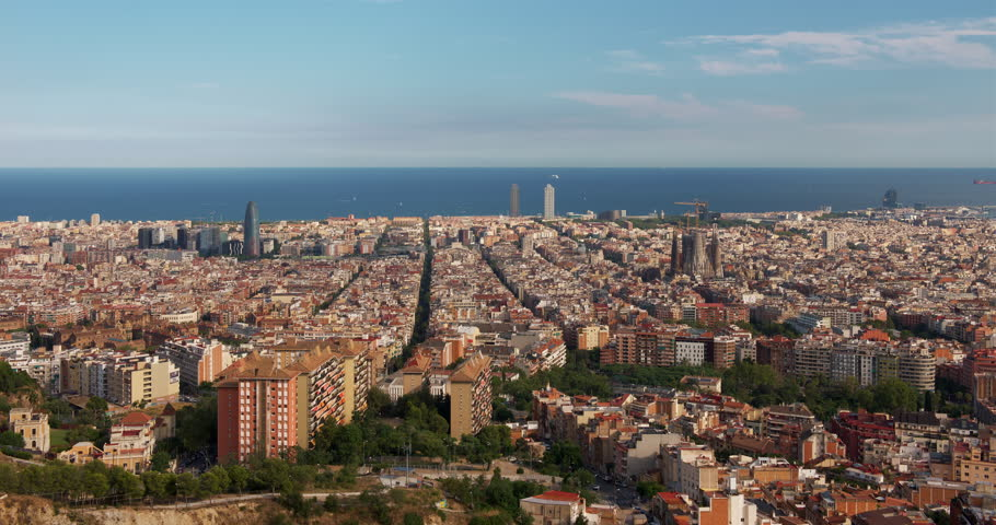 5K Barcelona City, Sunny View Time-Lapse | Shutterstock HD Video #1015614457