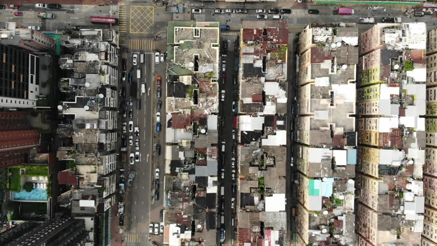 Old urban aerial view | Shutterstock HD Video #1015621777