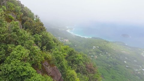 View Of The Mahe Island form Morne Blanc View Point, Seychelles