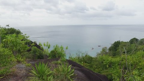 Panorama Of The Indian Ocean And Rocks, Mahe Island, Seychelles