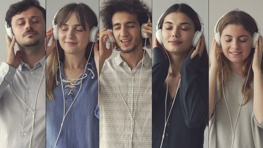 People listening to the music | Shutterstock HD Video #1015755847