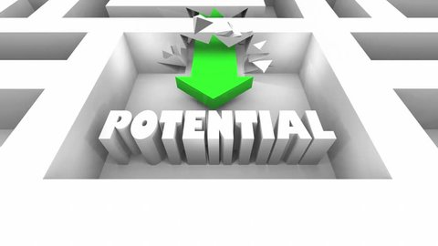 Potential Possibility Outcome Word Maze 3d Animation