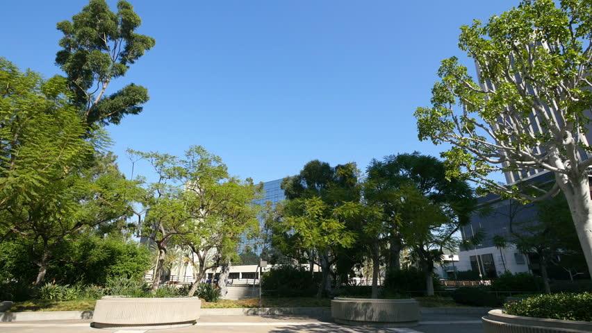 Park in downtown Los Angeles in 4k | Shutterstock HD Video #1015778977