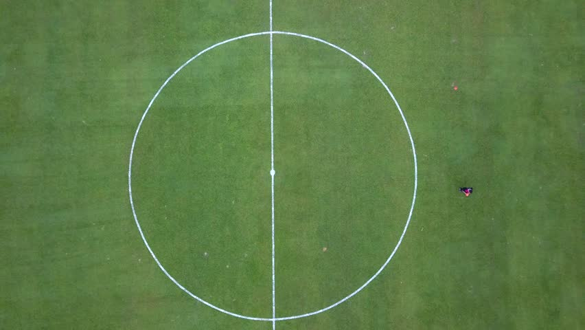KUALA LUMPUR, MALAYSIA - AUGUST 2018 : Aerial view of Stadium Bola Sepak Cheras, a multi-purpose stadium in Cheras, Kuala Lumpur from a drone #1015790917