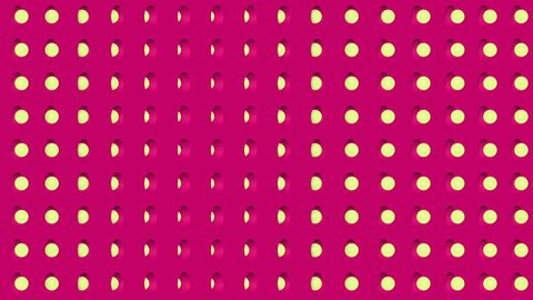 Abstract isometric background yellow spheres vertical wave