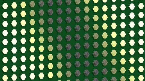 Abstract isometric background cubes lights bulbs waves flashing motion