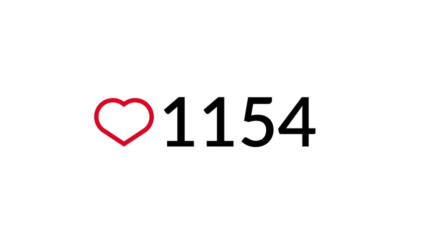 Social media heart counter. 4K video | Shutterstock HD Video #1015865197
