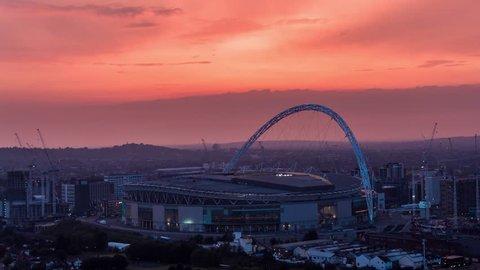 Aerial View of Wembley Stadium, London, United Kingdom
