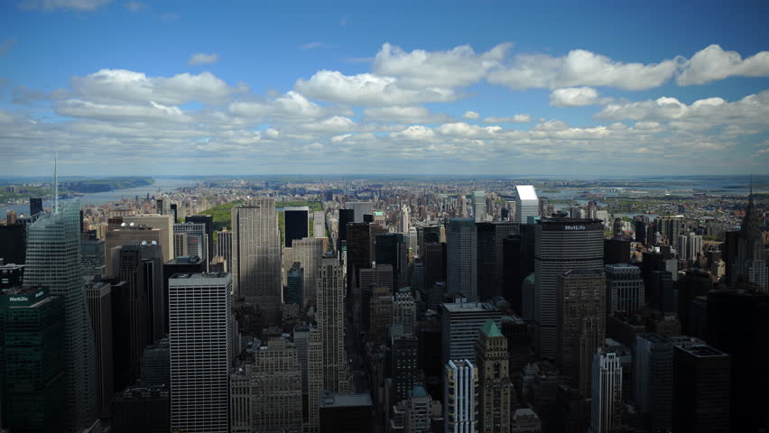 Time Lapse Aerial View of New York City Skyline Famous Business Buildings Day Ny | Shutterstock HD Video #1015910527