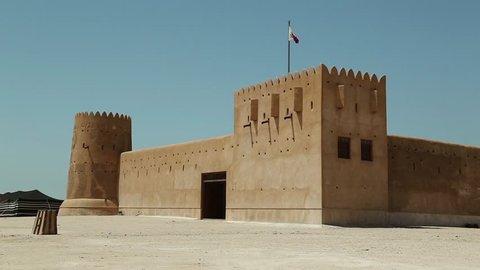 Al Zubara Fort or Al Zubarah Fort - historic Qatari military fortress built in the time of Sheikh Abdullah bin Jassim Al Thani in 1938, Qatar, Persian Gulf, Arabian Peninsula