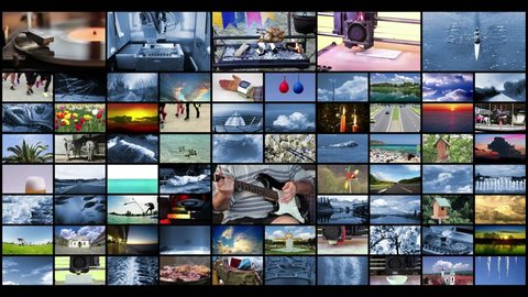 Television Production Technologies Concept as a Video Wall Background, 4K video