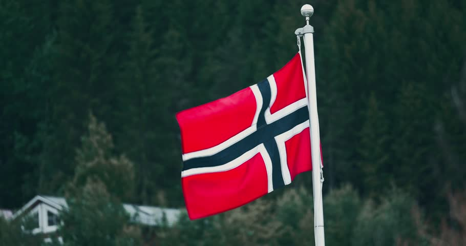 Norwegian Flag. Graded and stabilized version. Watch also for the native material, straight out of the camera or the untouched and stabilized version.