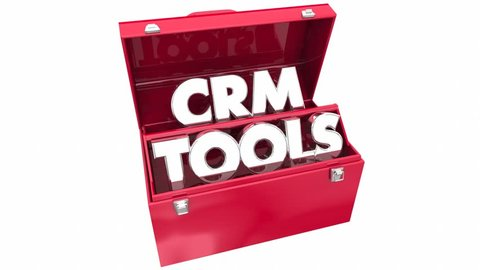 CRM Tools Customer Relationship Management Toolbox 3d Animation