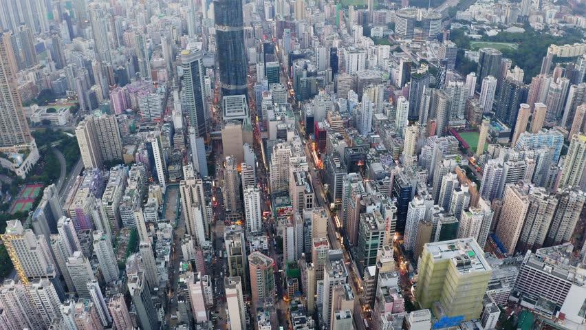 Mong Kok, Hong Kong 04 September 2018:- Hong Kong downtown city in the evening | Shutterstock HD Video #1016063617