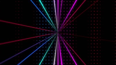 Strobing Multicolored Dot Pattern Wall with Lazers Loop