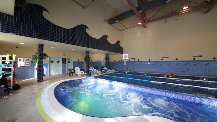 Whirlpool indoor  New Big Indoor Pool With Pure Water With Whirlpool And Resting ...