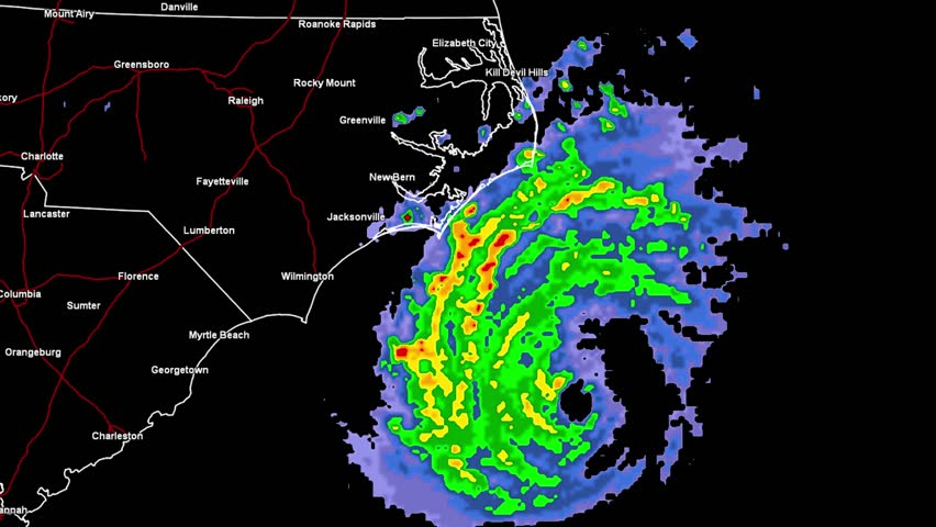 Hurricane Florence On Weather Radar Stock Footage Video (100% Royalty-free)  1016349757 | Shutterstock