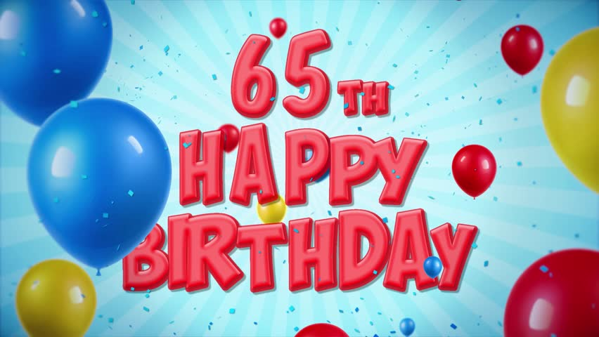 Happy Birthday Text Stock Video Footage