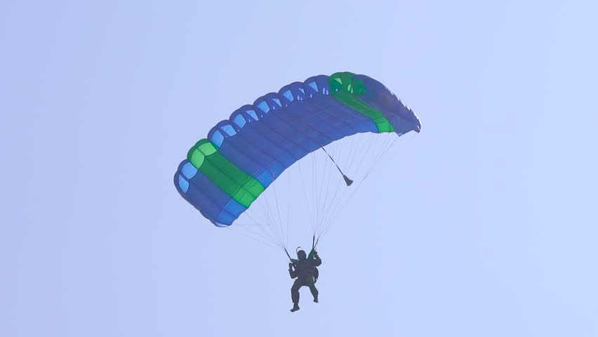 Paraglider is Flying in Sky Stock Footage Video (100% Royalty-free)  1016430787   Shutterstock