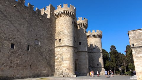 Knights Grand Master Palace in the ancient Rhodes town, Greece